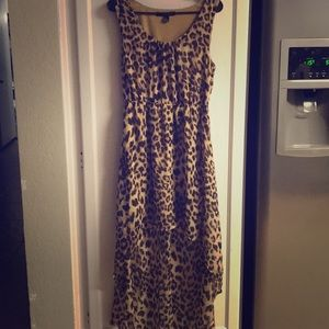 Forever 21 Brown Cheetah Print Sleeveless Dress M